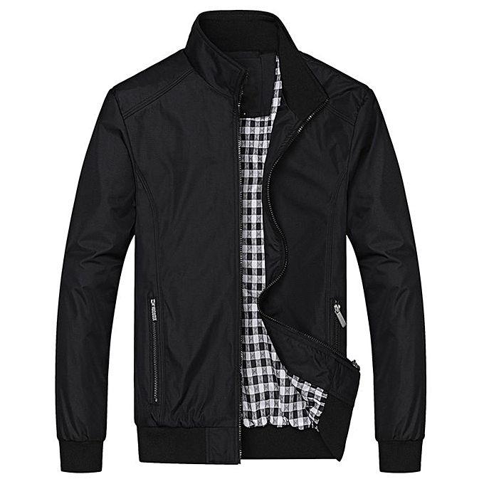 FASHION Men Casual Loose Jacket - Black Black XXL