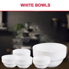Dinner Bowls (Best Price) 1 Piece white 13cm