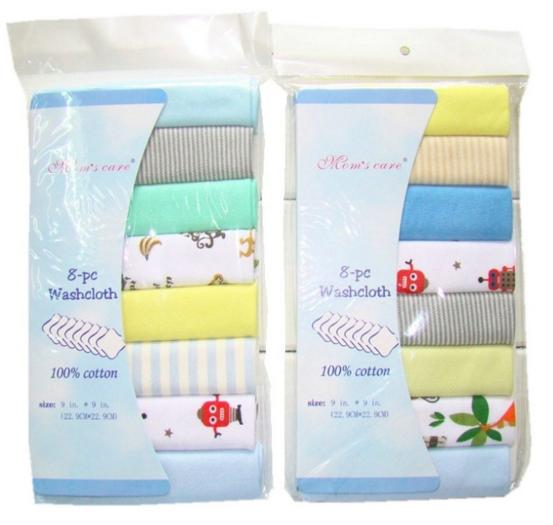 8pcs/pack 100% Cotton Newborn Baby Towels Saliva Towel Nursing Towel Baby Boys Girls Baby boy color 22.9*22.9cm
