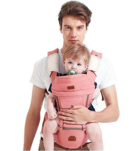 2bbb64c456d Bebear Baby Ergonomic Baby Carriers Sling Backpack Breathable  Multifunctional Baby Carry Bag Pink one size