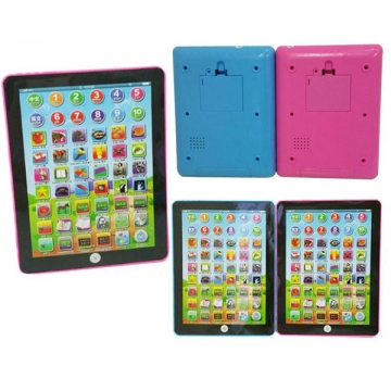 Learning computer touch type English Ipad Toys Children Early Learning Machine Blue 18.5*14*2CM