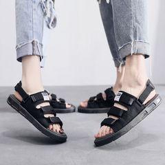Men sandals men shoes slippers casual flat sandals beach sandals for men open shoes summer Dual use WEZE 43