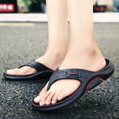 Men shoes flip flops slippers men sandals casual flat sandals beach sandals shoes men open shoes WEZE 43
