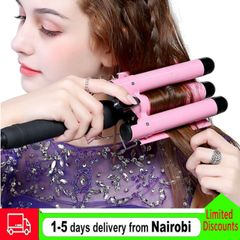Hair Curler Styling Curling Straightening Machine Ceramic Heating Hair Tool Pink as picture