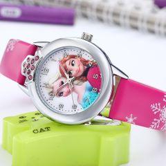 Waterproof Children's Cartoon Watches Snow White Spiderman Silicone Watch Kids Fashion Watch Frozen Rose one size