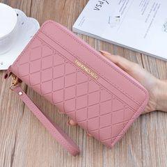 Long Women's Wallet Female Purses Tassel Coin Purse Card Holder Wallets Pu Leather Clutch Money Bag Pink 19.5*9.5*4cm