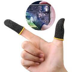 Gaming Finger Sleeve Breathable Fingertips Anti-Sweat Touch Screen Finger Cots Cover Sensitive TXTB1 As picture one size