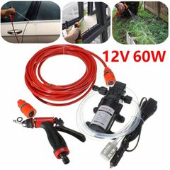 12V 60W Car Washer Pump High Pressure Electric Wash Pump Set Auto washing machine Kit Washer Sprayer As picture