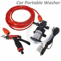 DC 12V 60W 160PSI High Pressure Car Electric Washer Wash Pump Set Portable Auto washing As picture