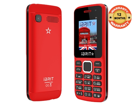 iBRIT B1 1.8 RAM 32MB ROM32 Resolution 128*160 800mAh bluetooth, Dual Sim Red