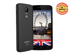 iBRIT ALPHA - 5.0'' - 8GB - 1GB - 8MP Camera - Dual SIM - 3G  + Free Silicone Case Black Gold
