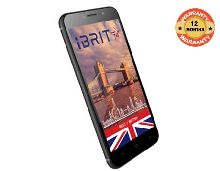 iBRIT SPEED X -5.0'' - 16GB - 1GB - 8MP Camera - Dual SIM - 4G/LTE - Black + Free Case black