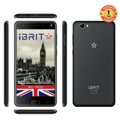 iBRIT i5 - 5.5'' - 16GB - 2GB, Fingerprint ID Front, 8MP Camera - 4G Dual SIM - 4000mAh black