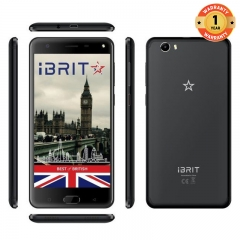 (+Free Cover) iBRIT i7 - 5.5'' - 32GB - 3GB, Fingerprint , 8MP Camera - 4G Dual SIM - 4000mAh black