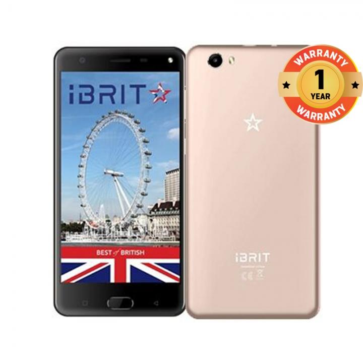 iBRIT i5 - 5.5'' - 16GB - 2GB, Fingerprint ID Front, 8MP Camera - 4G Dual SIM - 4000mAh gold