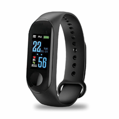 Bond X Smart Bracelet Fitness Tracker, Color Screen Blood Pressure Heart Rate Monitor Smart Watch black one size