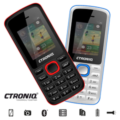 CTRONIQ Force F1 Feature Phone, 32MB RAM+ 32MB ROM, Dual SIM, Bluetooth enabled black