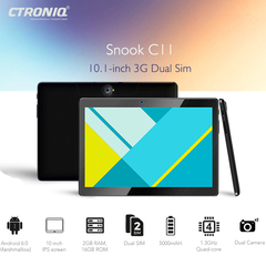 Tablet 10.1''  Screen 2GB+16GB Quad Core Dual Sim 2MP Camera  Android Tablet CTRONIQ –C11 black