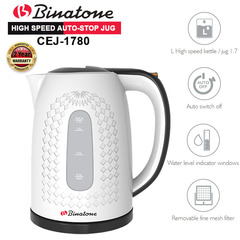 Binatone Electric Water Kettle CEJ-1780 1.7L. Best Quality with 2yr warranty black