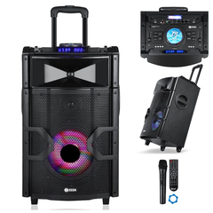 ZOOOK ZB-Beat Box Pro - Portable Trolley Speaker - DJ Mixer Pad & Light Effects black 10000w zoook