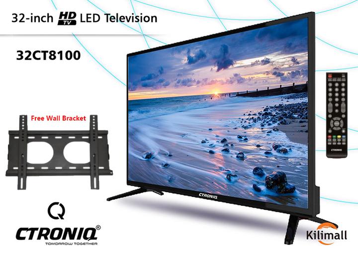 "CTRONIQ 32"" Digital TV + Free Wall Bracket black 32"