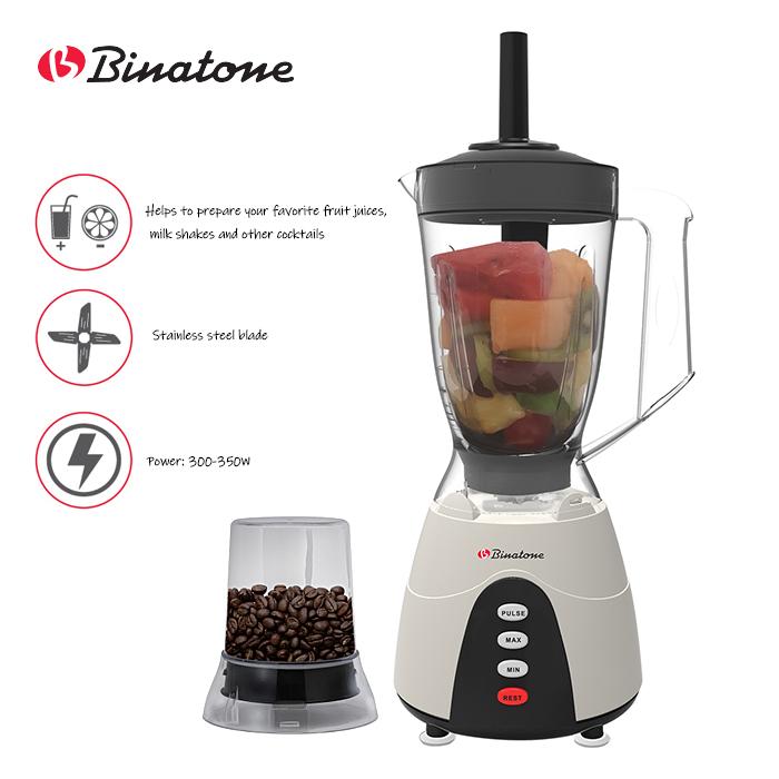 Binatone BLG-450 MK2 1.5L Blender Juicers with Grinder Peach
