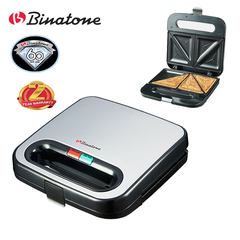 Binatone ST-801 - Sandwich Maker - Black Stainless Steel