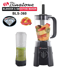Binatone BLS-360 Blender & Smoothie Maker 1.25 Liters with 2yr Warranty black