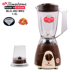 Binatone  BLG-402C Blender With Grinder 1.5 Litres. 60 year old British brand with 2yr  Warranty Chocolate