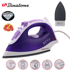 Electric Steam Iron For Clothes Binatone – SI 1850P purple