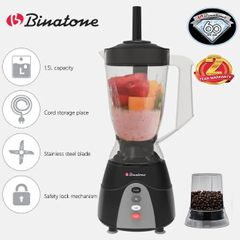 Binatone BLG-452 Blender With Grinder 1.5 Litres black