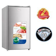 Binatone FR-110, Single Door Refrigerator, 120L - Silver silver 90L