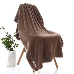3 pieces towel sets towel bath towels Coral Velvet Towel For Adult  Household bathroom Coffee + Purple + grey 1pcs 70*140cm+2pcs 35*75cm