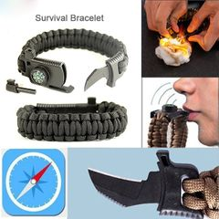 Men's Outdoor Bracelets Hand Woven Vintage Bracelets Men's Accessories Bracelets Army green one size