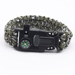 Military Emergency Bracelet Multifunction Field Survival Escape Rope Outdoor Tactical Survival Tool Army Green normal