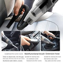 DC 12V 120W High Power Portable Handheld Car Vacuum Cleaner, Strong Suction, Wet & Dry Use, Black