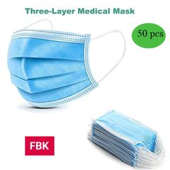 50 PCS Disposable Face Masks  3-Ply Breathable & Comfortable Filter Safety Mask 50 PCS