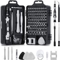115 in 1 Professional Repair Tool Kit Precision Screwdriver Set Magnetic Screw Driver Set Black