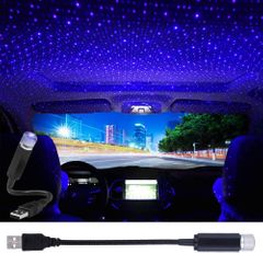 Car Roof Star Atmosphere Lights Auto LED USB Night Lights  USB Projector blue and purple