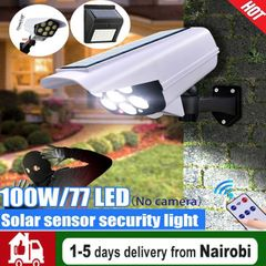 【2 in 1 Solar Light & Security Camera】77LED Lamp Wireless Outdoor Waterproof Home Garden White Remote Control Switch