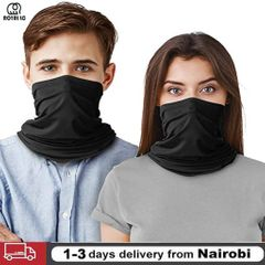 1PC Face Mask Neck Protection Virus Dust Prevention PM 2.5 Safety Filter Healthy Gift 2PC-Black Color