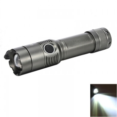 2000LM 3Modes T6 Zoomable LED Flashlight Focus Torch  Gun Color Gray one size 15w