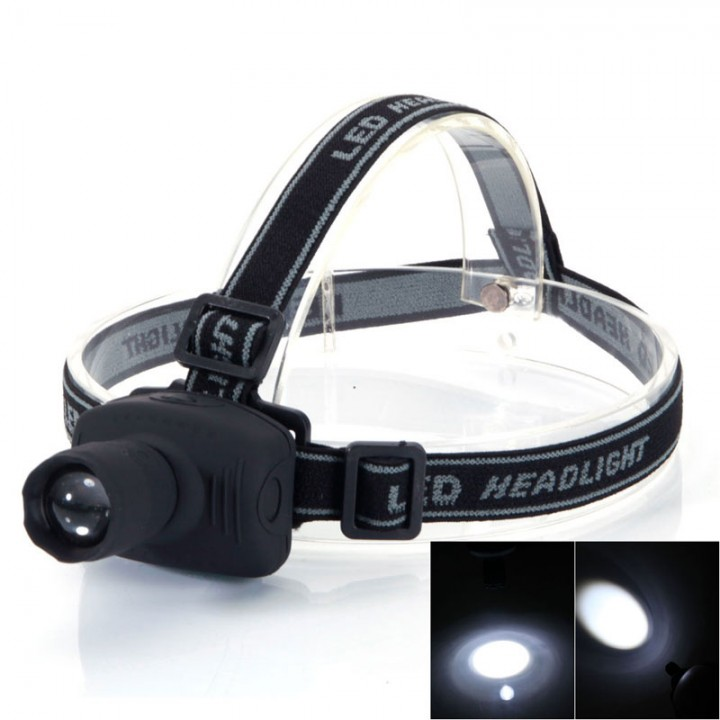 Portable 300LM 3 Modes Adjustable Q5 LED Zoomable Headlamp AAA Head Torch Light Lamp Black Black 3W