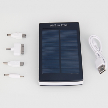30000mAh Portable Dual USB Solar Panel Battery Charger Power Bank for Smartphone Black one size