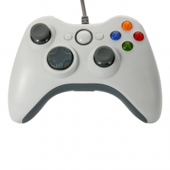 USB Wired Xbox 360 Game Remote Controller for PC Computer Window  White