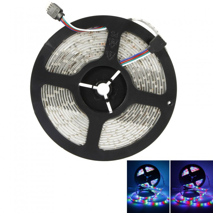 5M 300 LED Flexible RGB Strip Lights 3528 SMD IP65 Waterproof Car Lamp Bright as picture 500cm no