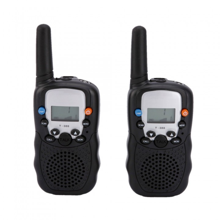 LCD 5km UHF Auto Multi Channels 2-Way Radio Wireless Walkie Talkie T-388 black & green one size