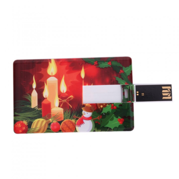 8GB USB 2.0 Memory Flash Drive U Disk Christmas Card Style for PC Laptops as picture