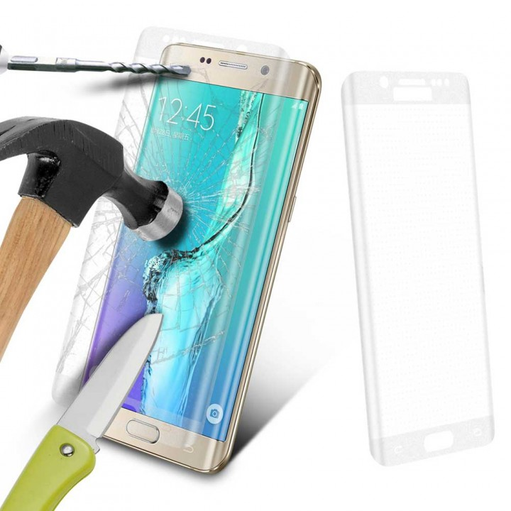 Premium 9H Tempered Glass Full Screen Protector for Samsung Galaxy S6 Edge Clear Transparent Samsung Galaxy S6 E