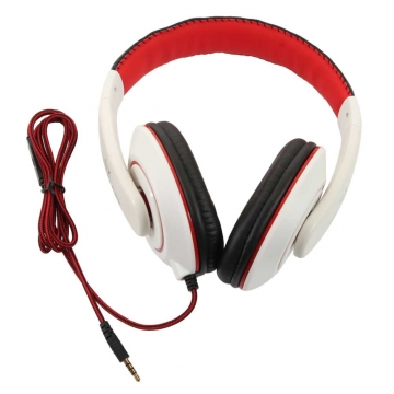 Ovleng X13 Adjustable Headphones MP3 Stereo Over Ear Earphones DJ W/Mic White